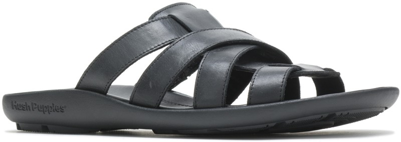 Pivot Slide - Black Leather
