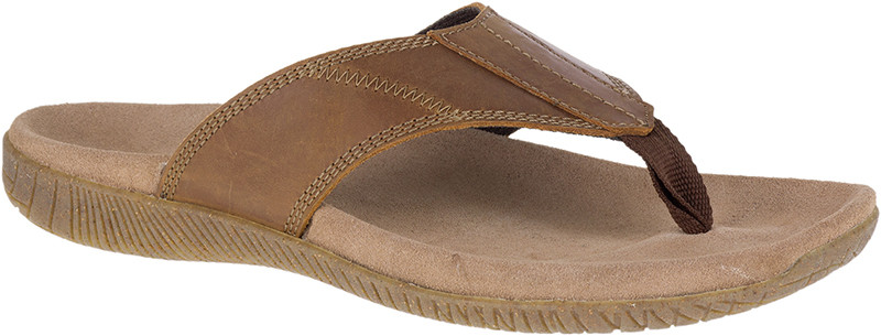 Mutt Toepost - Light Brown Leather