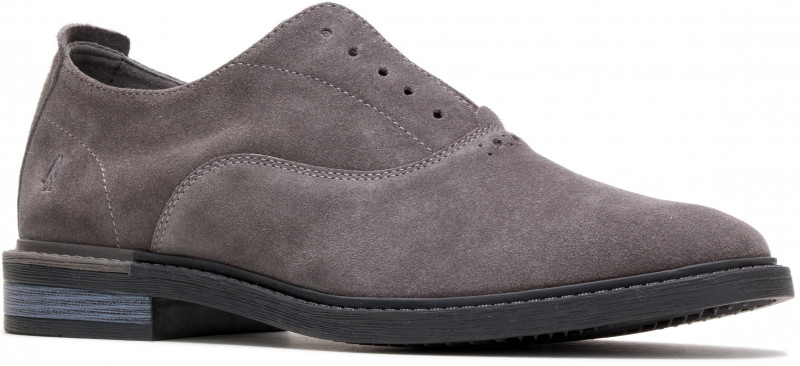 Davis Slip-On Oxford - Dark Grey Suede