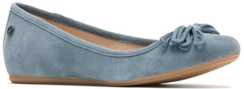 Heather Bow Ballet - Storm Suede