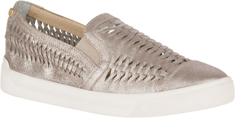 Gabbie Woven Slip-On - Champagne Leather