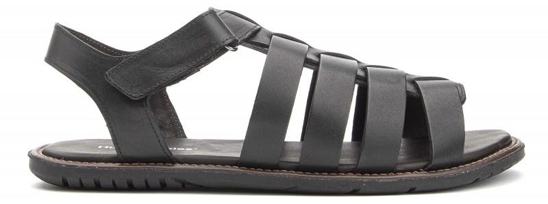 Dubai Open Toe Fisherman - Black Leather