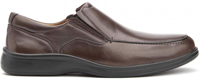 Cushion MT Slip-On - Brown Leather