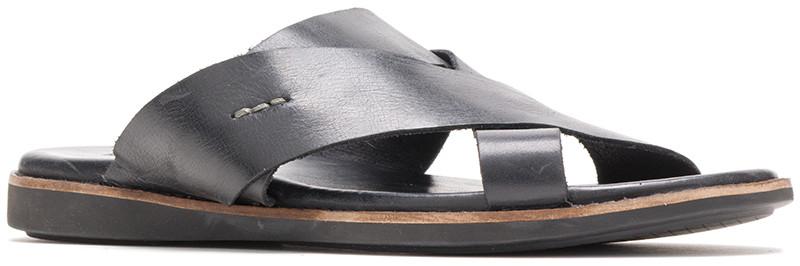 Howston Slide - Black Leather
