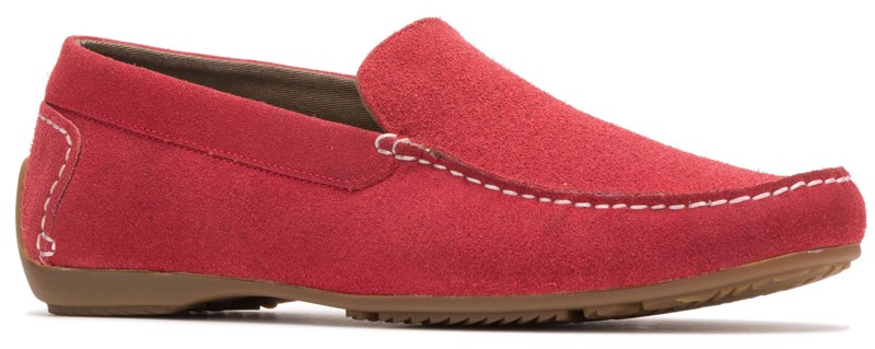Schnauzer SlipOn - Fiery Red Suede