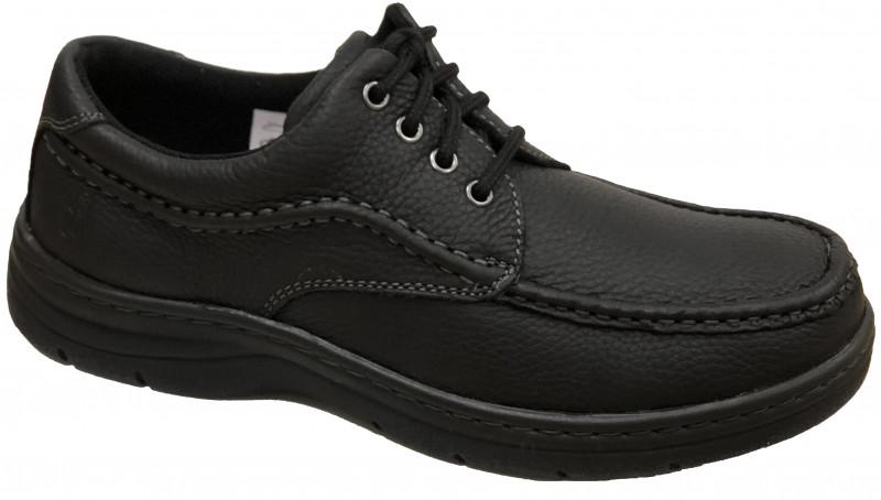 Achieve Moc Toe - Black Pitstop leather