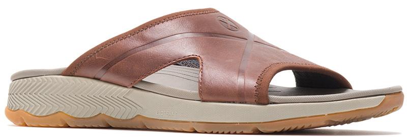 Puli Slide - Saddle Brown Leather