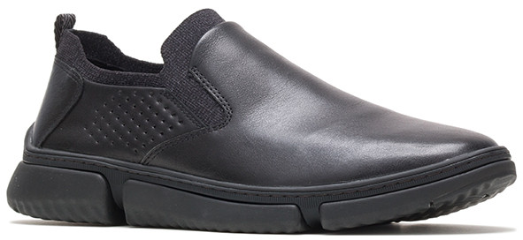 Bennet Plain Toe Slip-On - Black Leather