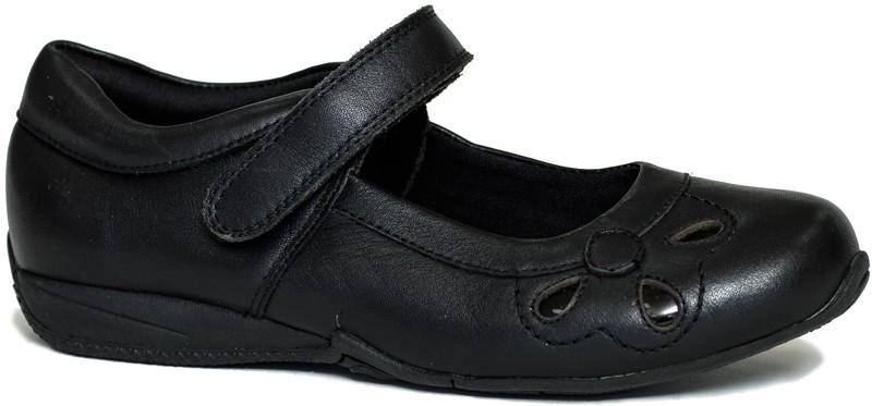 SummerDaisy Flower - Black Napa Leather