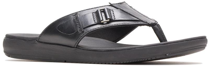 LEONBERGER TOEPOST - Black Leather