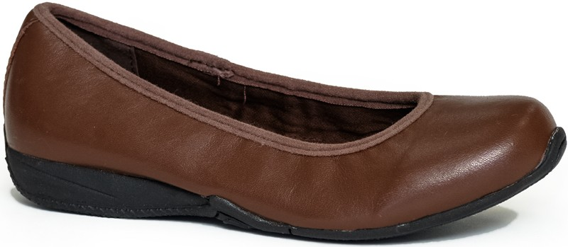 SummerSage (bailerina) - Brown Napa Leather