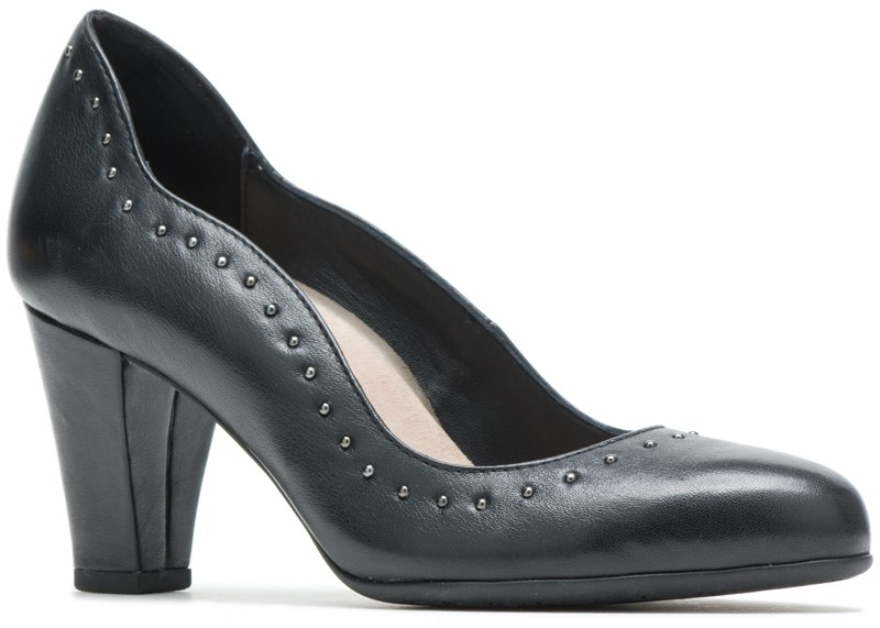Meaghan Stud Pump - Black Leather