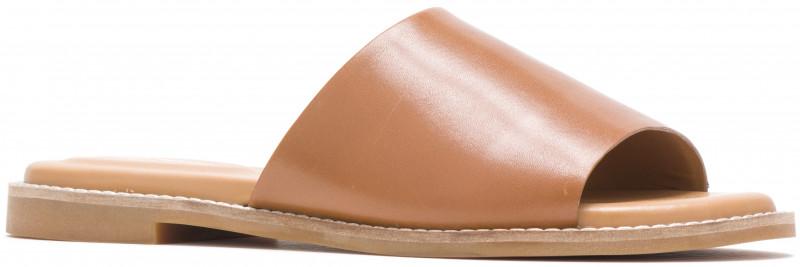 Lexi Slide - Tan Leather