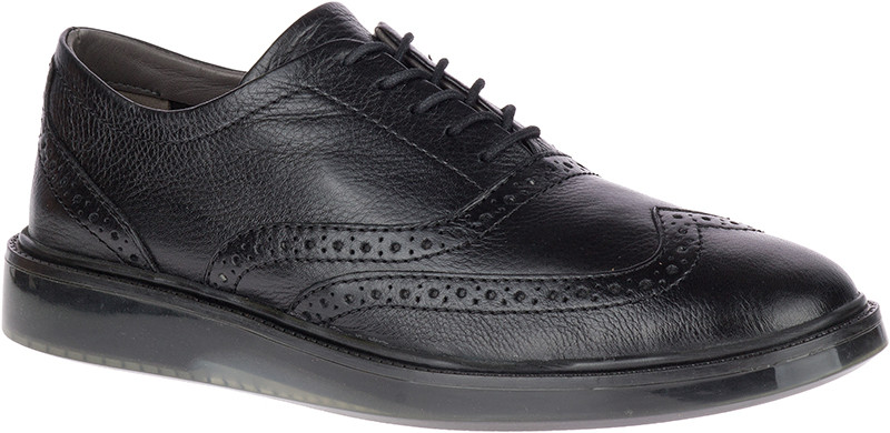 Shiba Brogue Oxford - Black leather