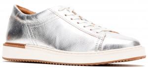 Sabine Sneaker - Silver Metallic Leather