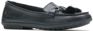 Aidi Puff Loafer - Black Leather