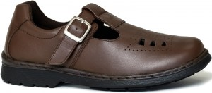 Tani (perfed T-Moc) - Brown Punjab Leather