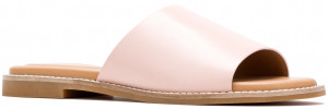 Lexi Slide - Pale Rose Leather