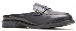 Bailey Penny Mule - Black Leather