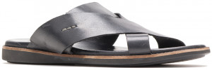 Howston Slide - Black Leather