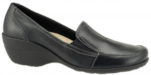 Kana Slip-On - Black Leather