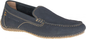 Riban Roll Mocc - Navy nubuck