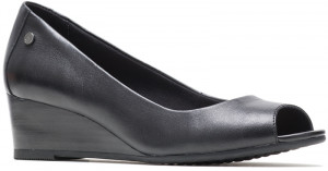 Morkie Peep Toe - Black Leather