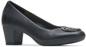 Maci Ornament Pump - Black Shield Leather