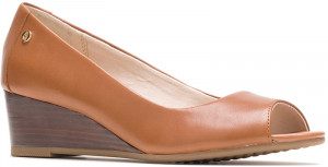 Morkie Peep Toe - Tan Leather
