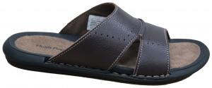 Bello Slide - Brown James Dean Leather