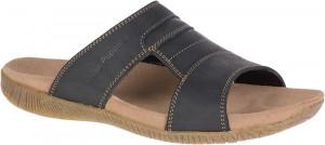 Mutt Slide - Black Leather