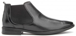 Vellar Chelsea Boot - Black Leather