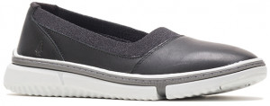 Remy Plain Toe Slip-On - Black Leather
