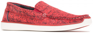 Toby Venetian - Red Pepper Print Suede