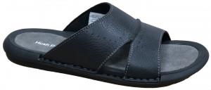 Bello Slide - Black James Dean Leather