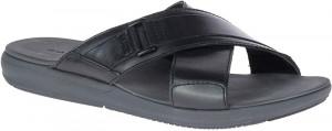 Leonberger Slide - Black Leather