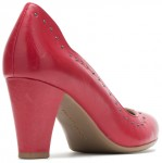 Meaghan Stud Pump - Red Leather