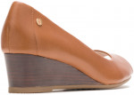 Morkie Peep Toe - Tan Leather
